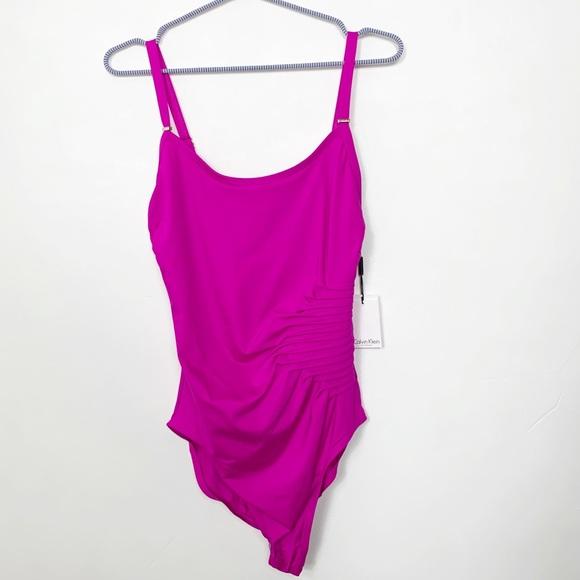 Calvin Klein Other - Calvin Klein Hot Pink One Piece Bathing Swim Suit